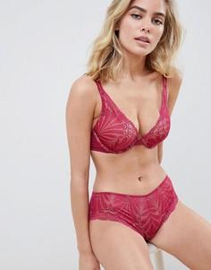 Кружевные трусы-шорты Wonderbra Refined Glamour - Красный