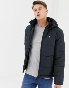Черная дутая куртка с капюшоном Jack Wills Breckford - Черный