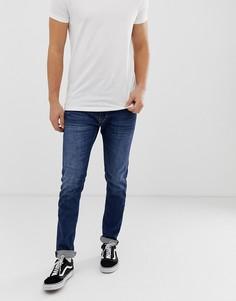 Темные эластичные джинсы скинни Replay Jondrill - Синий