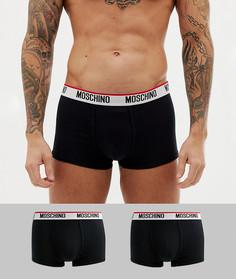 Набор из 2 черных трикотажных боксеров-брифов Moschino - Черный
