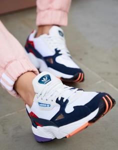 Бело-синие кроссовки adidas Originals - Белый