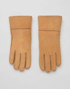 Перчатки с подкладкой из овчины Barneys Originals - Рыжий