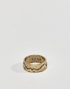 Кольцо с узором Icon Brand - Золотой