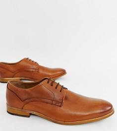 Светло-коричневые кожаные туфли на шнуровке ASOS DESIGN - Рыжий