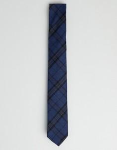 Шерстяной галстук в шотландскую клетку Twisted Tailor - Синий