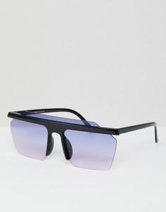 Солнцезащитные очки с эффектом омбре 7X - Черный