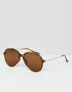 Солнцезащитные очки со звериным принтом 7X - Коричневый
