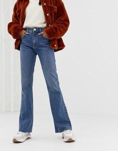 Выбеленные синие расклешенные джинсы ASOS DESIGN - Синий