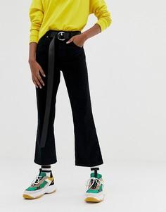 Черные вельветовые джинсы клеш ASOS DESIGN - Черный
