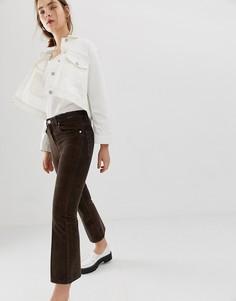 Укороченные расклешенные джинсы коричневого цвета ASOS DESIGN - Коричневый