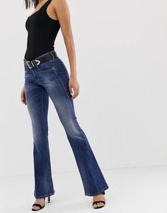 Расклешенные джинсы с классической талией Diesel - Синий