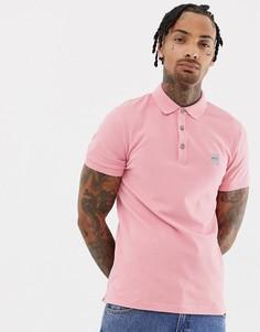 Розовое поло узкого кроя с логотипом BOSS Passenger - Розовый