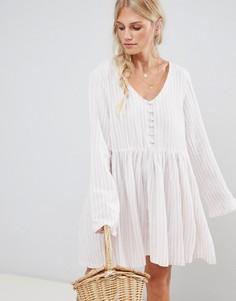 Тканое пляжное платье в полоску Zulu & Zephyr - Мульти
