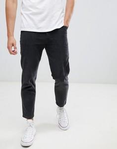 Серые вельветовые брюки прямого кроя Celio - Серый