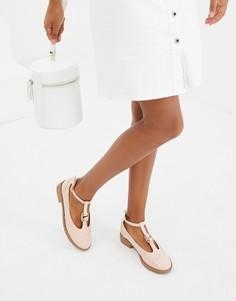 Туфли на плоской подошве с кольцами ASOS DESIGN Maxy - Бежевый