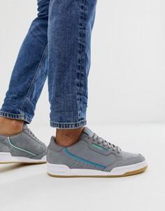 Серые кроссовки в стиле 80-х adidas Originals Continental victoria waterloo - Серый