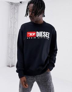 Черный свитшот Diesel S-Crew-Division - Черный