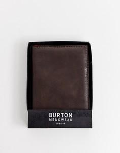 Темно-коричневая обложка для паспорта из искусственной кожи Burton Menswear - Коричневый