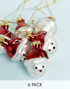 6 новогодних елочных украшений Sass & Belle - Мульти