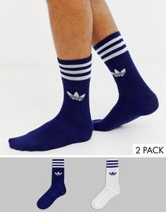 Набор из 2 пар носков темно-синего и белого цвета adidas Originals - Мульти