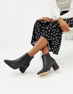 Ботинки челси на среднем каблуке Faith - Черный
