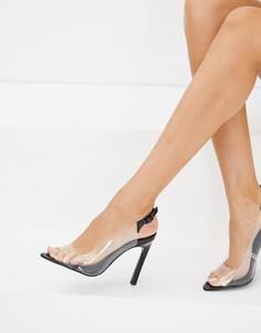 Туфли на каблуке с ремешком на пятке ASOS DESIGN Pilot - Черный