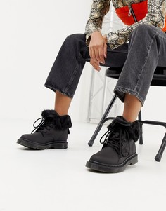 Черные кожаные ботинки на плоской подошве Dr Martens 1460 Kolbert - Черный