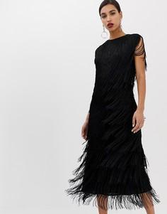 Платье миди ASOS EDITION - Черный