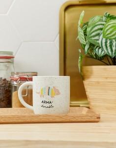 Чашка с надписью armadorable разных цветов New Look - Мульти