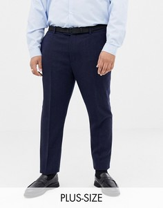 Зауженные темно-синие брюки из ткани с добавлением шерсти Gianni Feraud Plus - Темно-синий