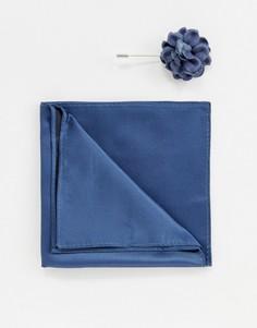 Платок для нагрудного кармана и булавка с цветком Devils Advocate - Зеленый