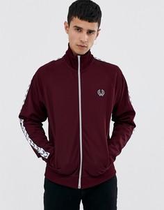 Бордовая спортивная куртка с отделкой лентой Fred Perry Sports Authentic - Красный
