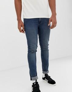 Облегающие джинсы стального синего цвета Cheap Monday - Синий