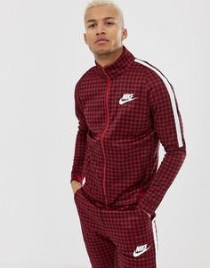 Красная спортивная куртка в клетку Nike BQ0675-618 - Красный