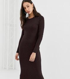 Платье миди с длинными рукавами Glamorous Tall - Черный