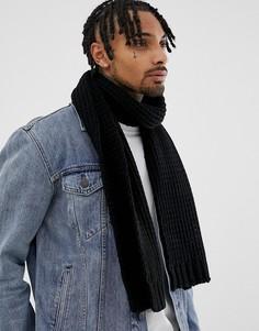 Черный шарф ASOS DESIGN - Черный