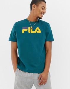 22fb6468e51 Зеленая футболка с логотипом Fila Black Line Toto - Зеленый