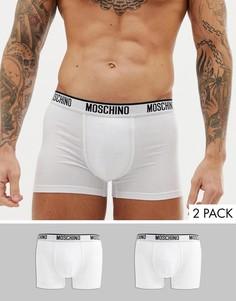 Набор из 2 пар трикотажных боксеров-брифов Moschino - Белый
