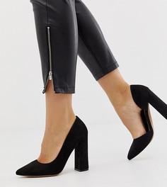 Туфли на высоком каблуке для широкой стопы ASOS DESIGN Walter dorsay - Черный