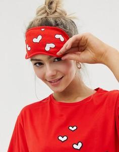 Маска для сна с сердцами ASOS DESIGN Valentines - Красный