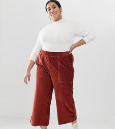 Вельветовые брюки в стиле милитари ASOS DESIGN Curve - Коричневый