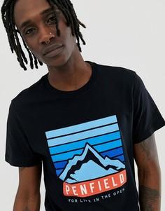 Черная футболка с круглым вырезом и логотипом Penfield - Черный