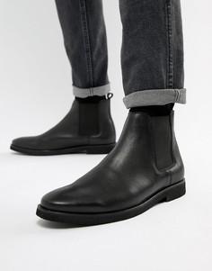 Черные кожаные ботинки челси WALK London Hornchurch - Коричневый
