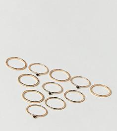 Составные кольца с черным камнем ALDO - Золотой