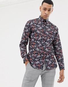 Рубашка с цветочным принтом Ted Baker - Темно-синий