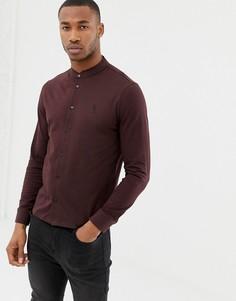 Трикотажная приталенная рубашка с воротником на пуговице Religion - Красный