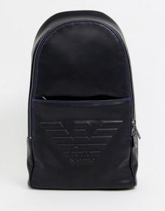 Черная сумка через плечо с тиснением логотипа в виде орла Emporio Armani - Черный