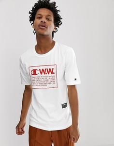 Белая футболка с крупным логотипом Champion x Wood Wood - Белый