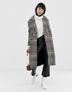 Пальто в клетку Ichi - Мульти