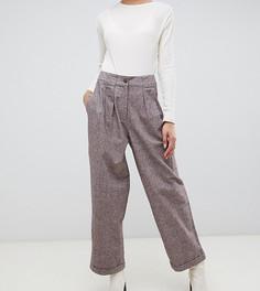 Фактурные брюки ASOS DESIGN Tall - Коричневый